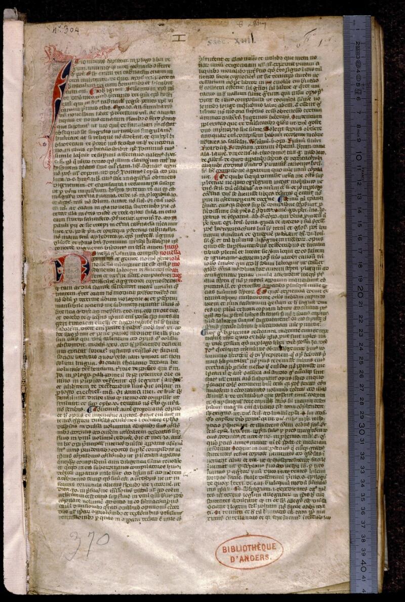 Angers, Bibl. mun., ms. 0383, f. 001 - vue 1