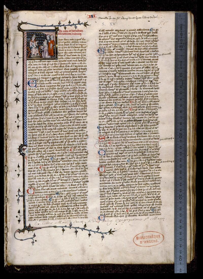 Angers, Bibl. mun., ms. 0384, f. 001 - vue 1