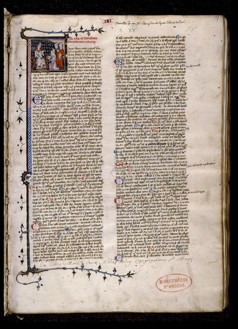 Angers, Bibl. mun., ms. 0384, f. 001 - vue 2