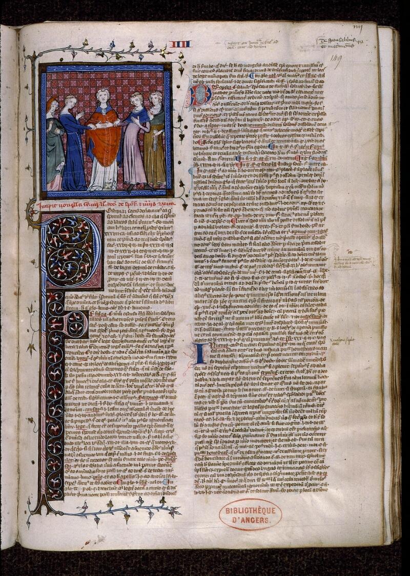 Angers, Bibl. mun., ms. 0384, f. 149 - vue 1