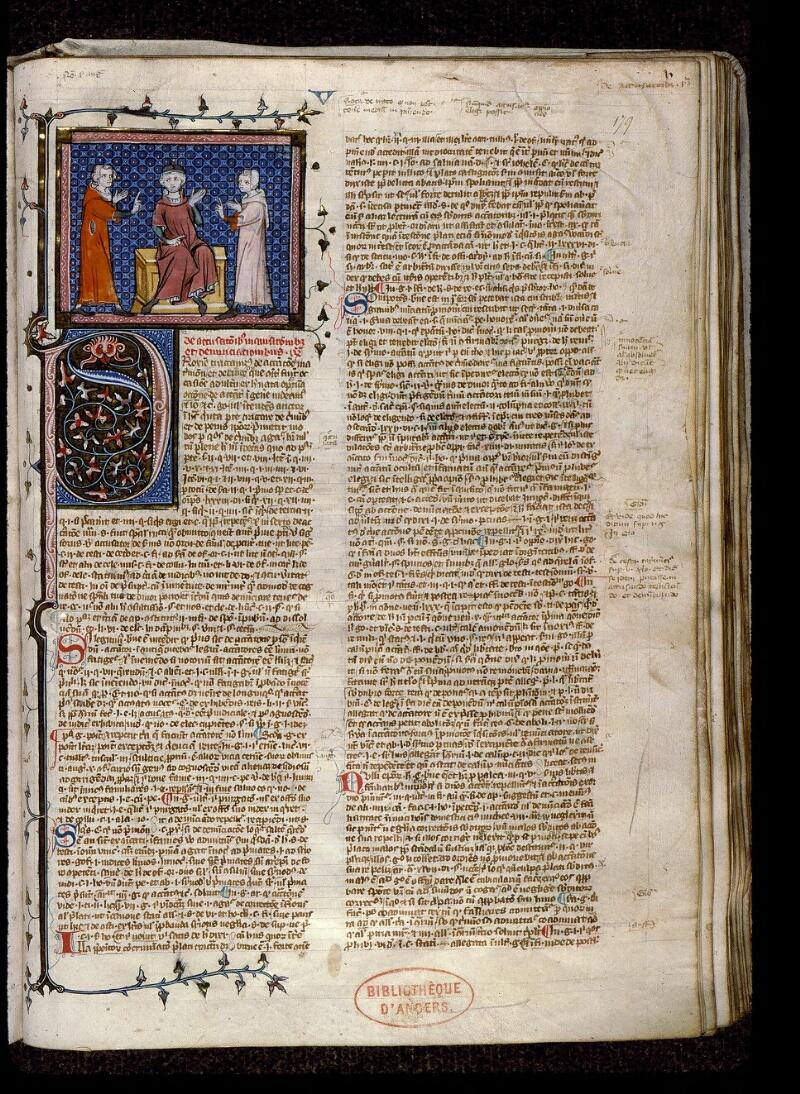 Angers, Bibl. mun., ms. 0384, f. 179 - vue 1