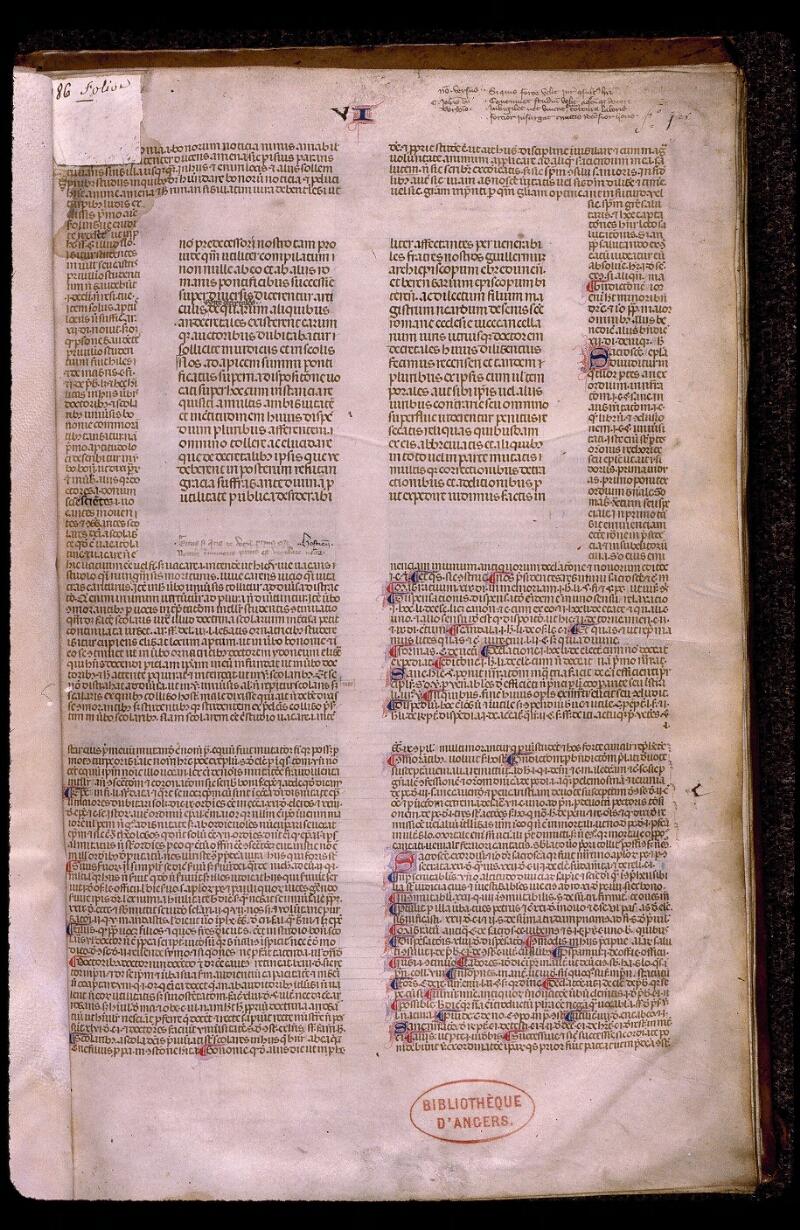 Angers, Bibl. mun., ms. 0385, f. 001 - vue 2