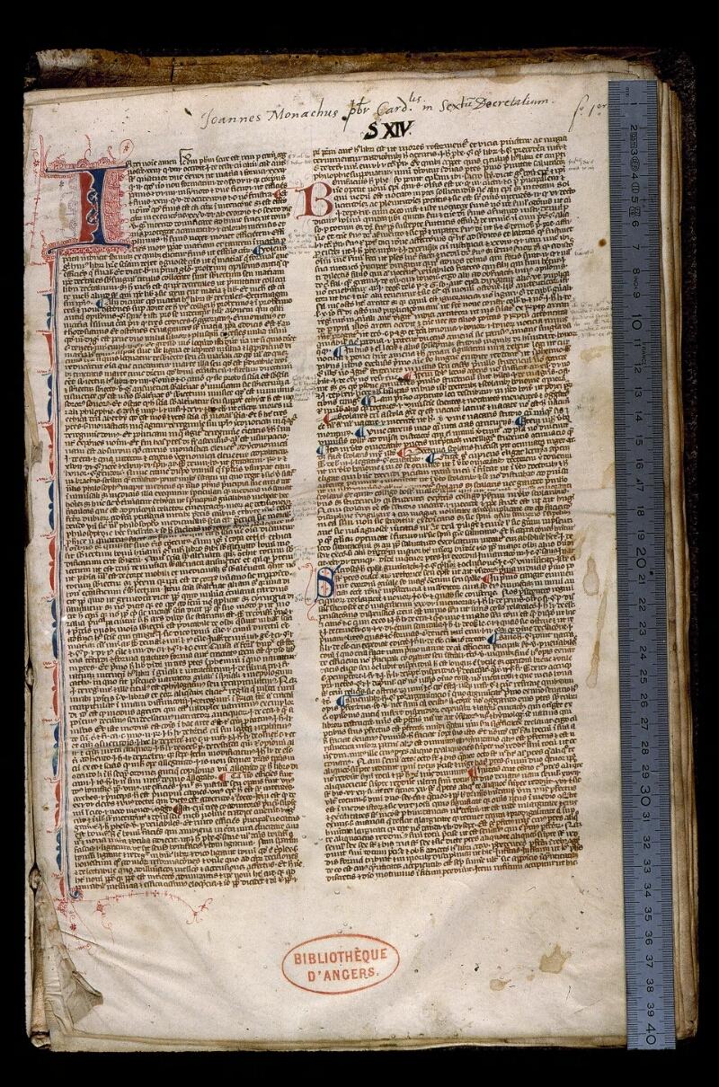 Angers, Bibl. mun., ms. 0386, f. 001 - vue 1