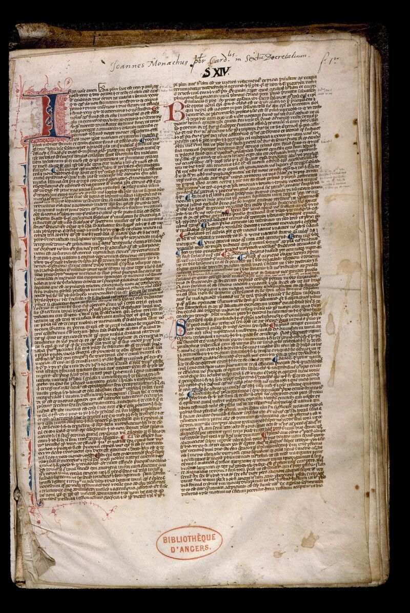 Angers, Bibl. mun., ms. 0386, f. 001 - vue 2