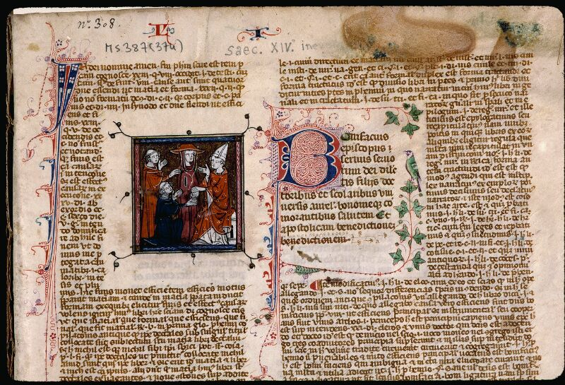 Angers, Bibl. mun., ms. 0387, f. 001 - vue 3