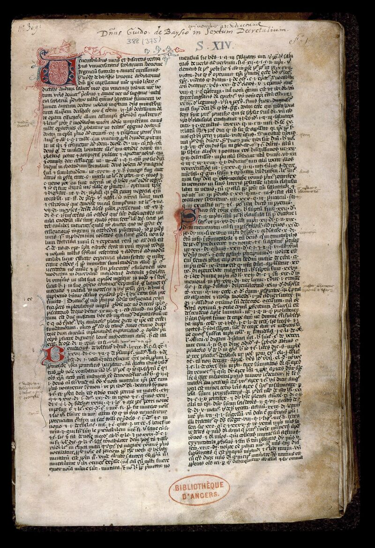 Angers, Bibl. mun., ms. 0388, f. 001 - vue 2