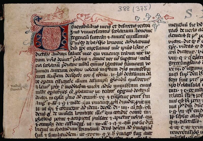 Angers, Bibl. mun., ms. 0388, f. 001 - vue 3
