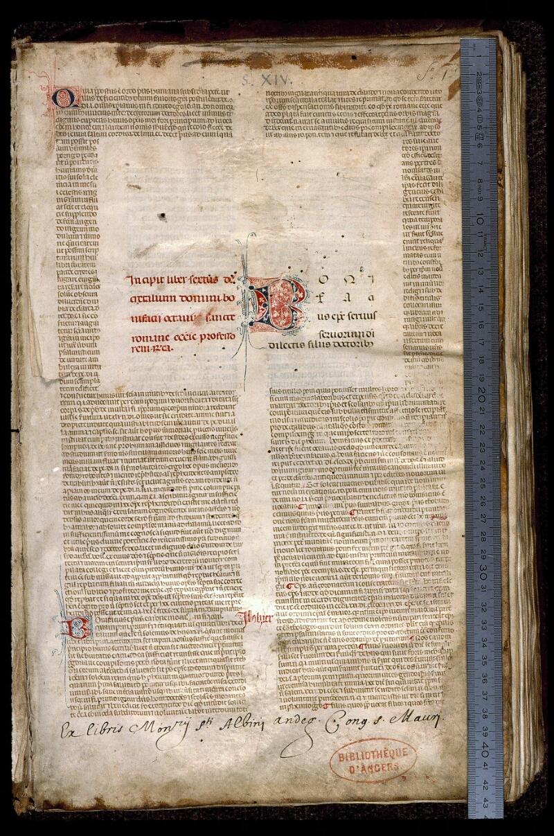 Angers, Bibl. mun., ms. 0389, f. 001 - vue 1
