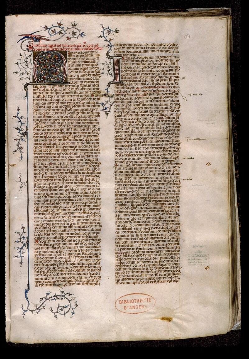 Angers, Bibl. mun., ms. 0390, f. 153 - vue 1