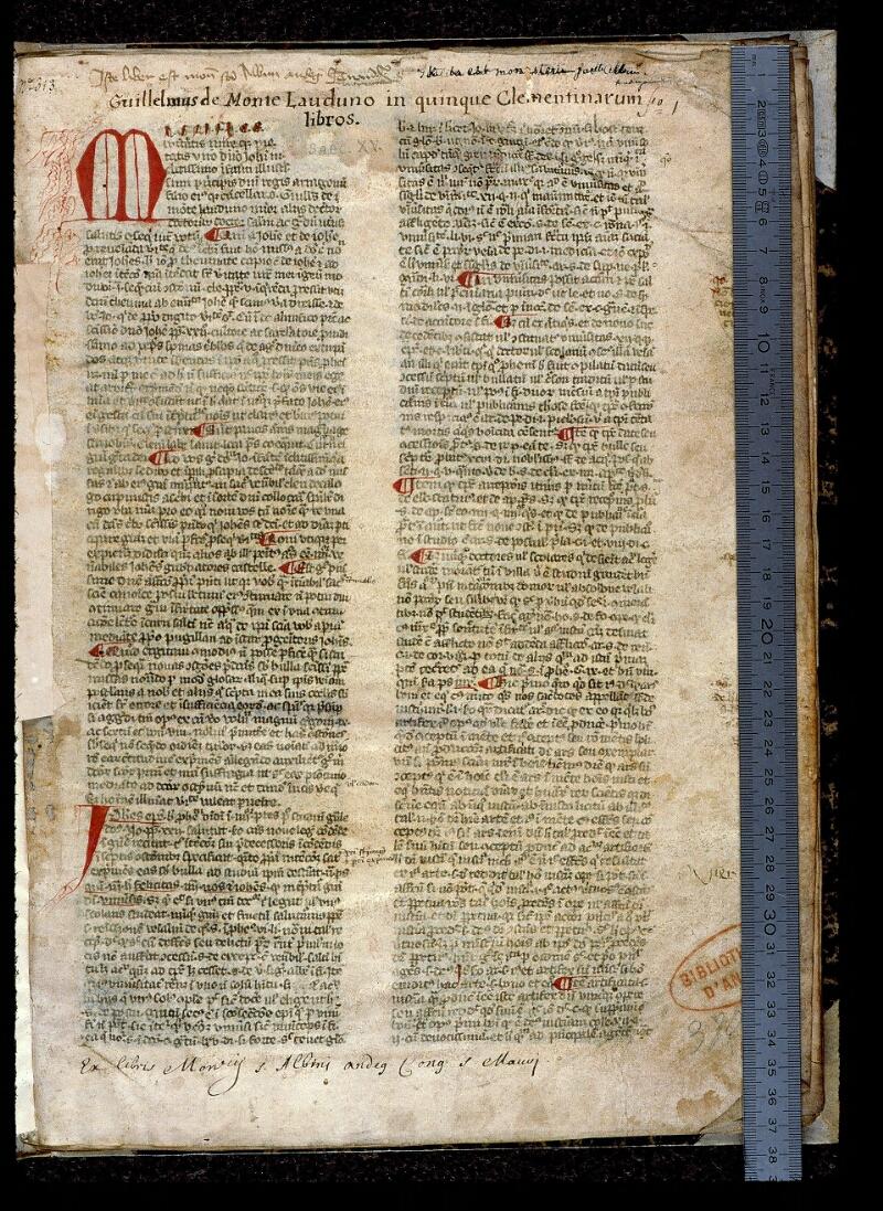 Angers, Bibl. mun., ms. 0393, f. 001 - vue 1