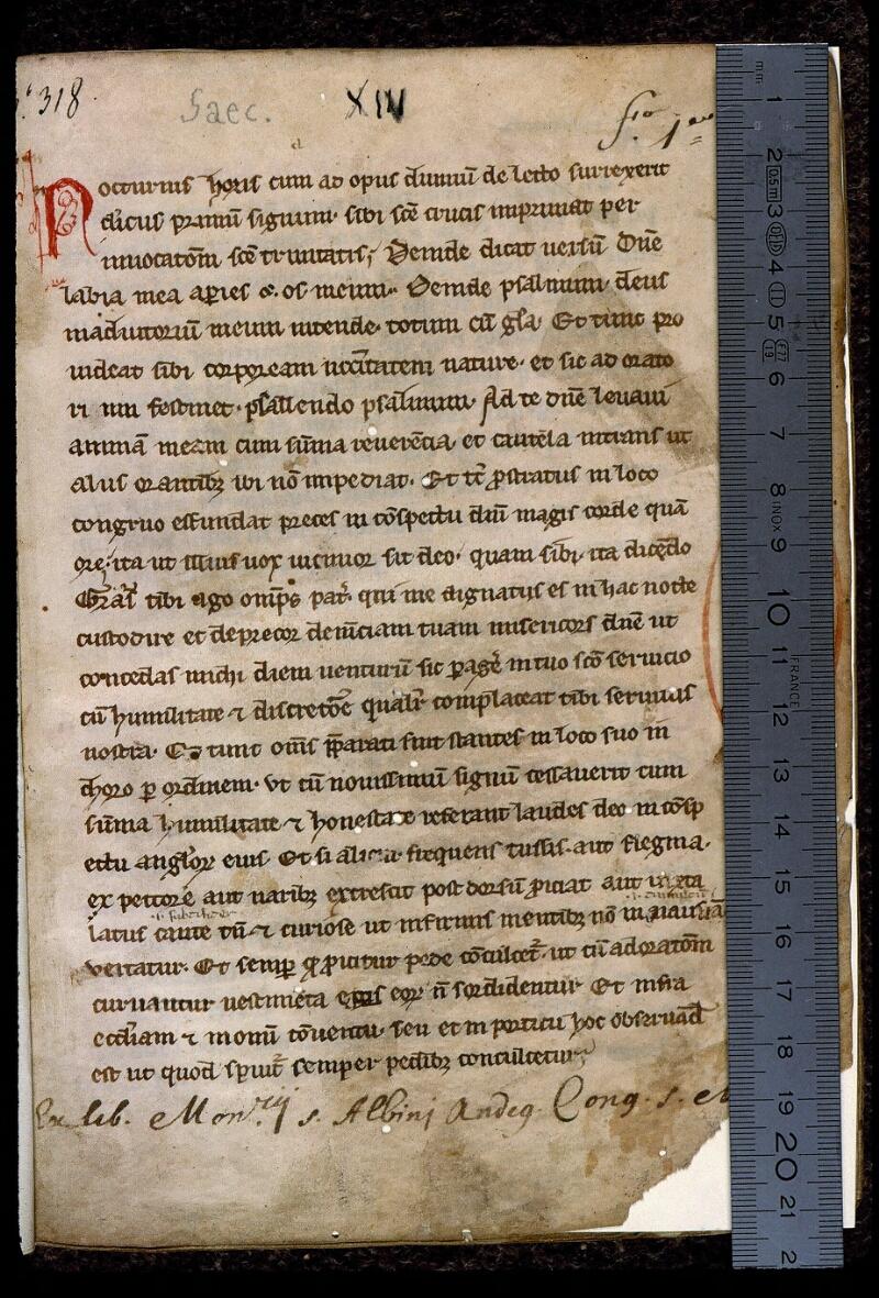 Angers, Bibl. mun., ms. 0401, f. 001 - vue 1