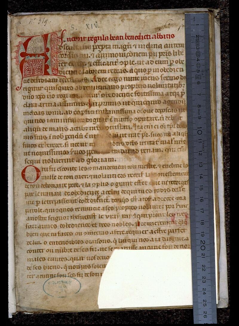Angers, Bibl. mun., ms. 0402, f. 001 - vue 1