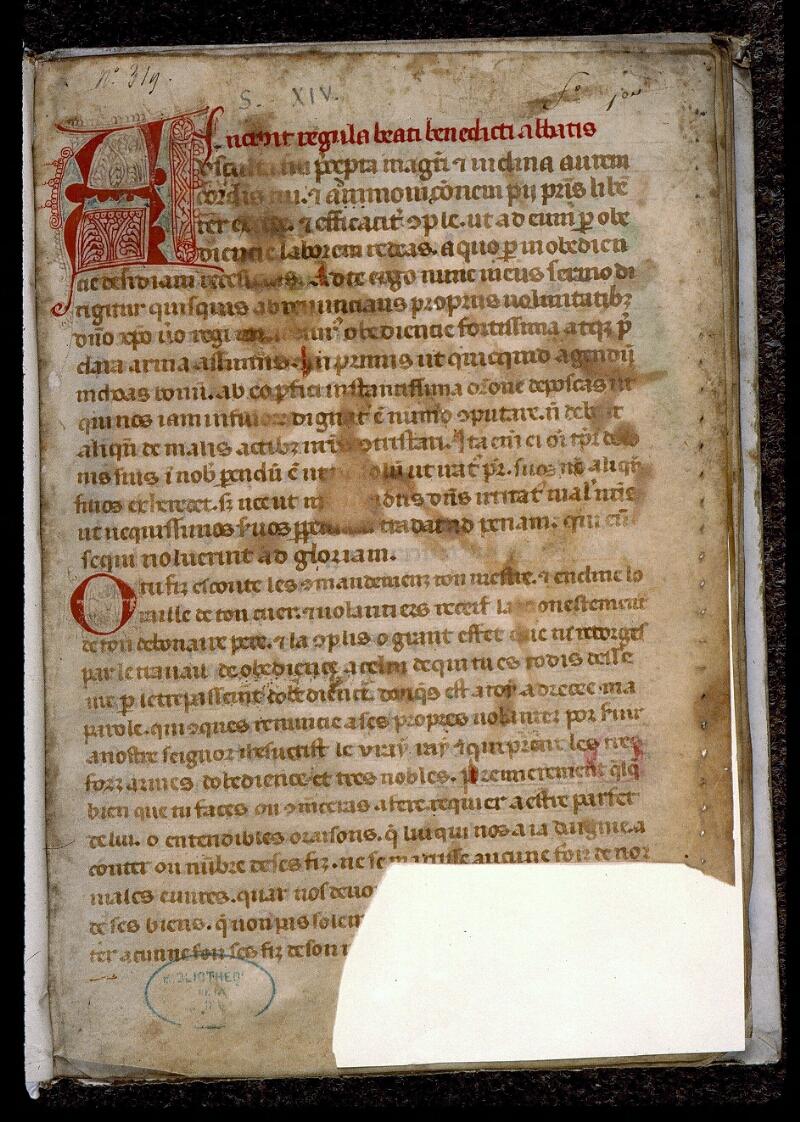 Angers, Bibl. mun., ms. 0402, f. 001 - vue 2