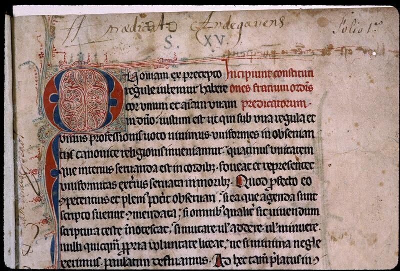 Angers, Bibl. mun., ms. 0406, f. 001 - vue 3