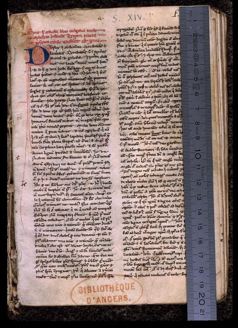 Angers, Bibl. mun., ms. 0419, f. 001 - vue 1