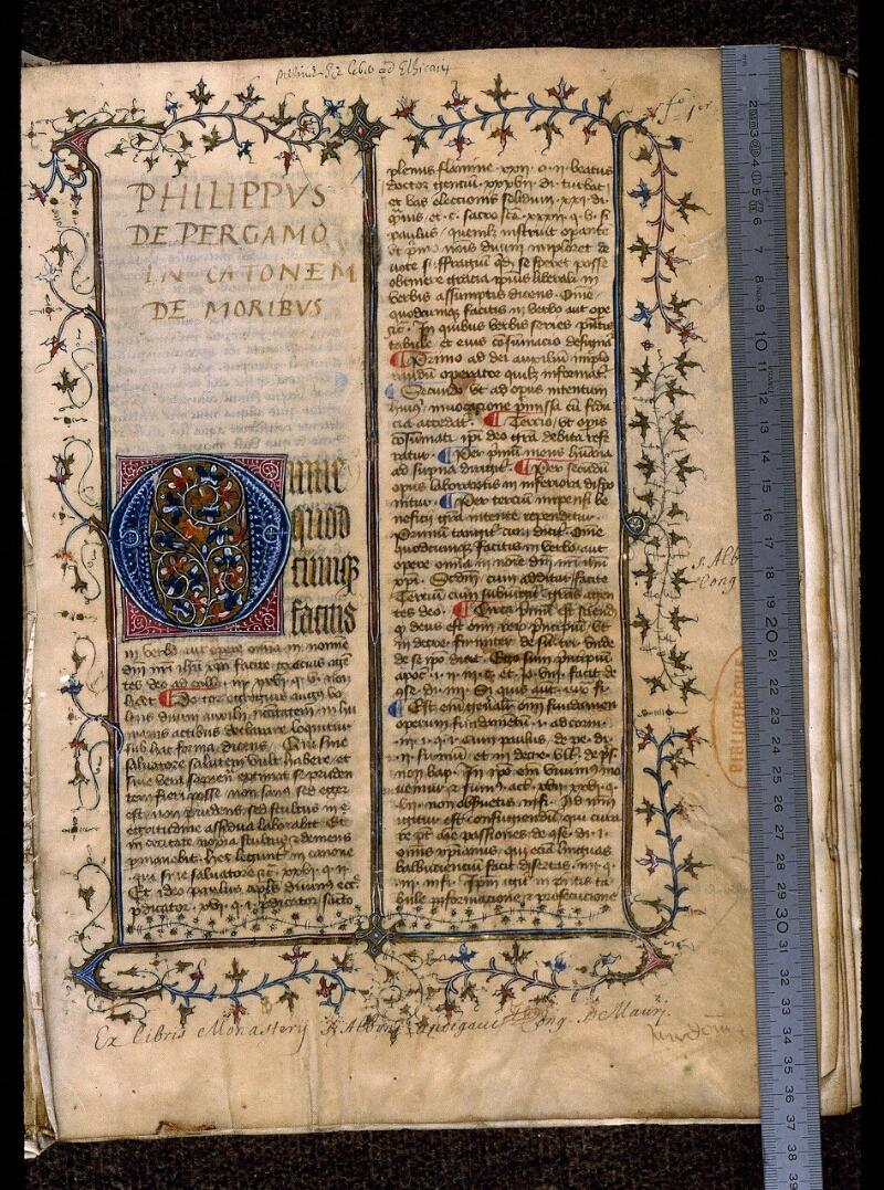 Angers, Bibl. mun., ms. 0420, f. 001 - vue 1