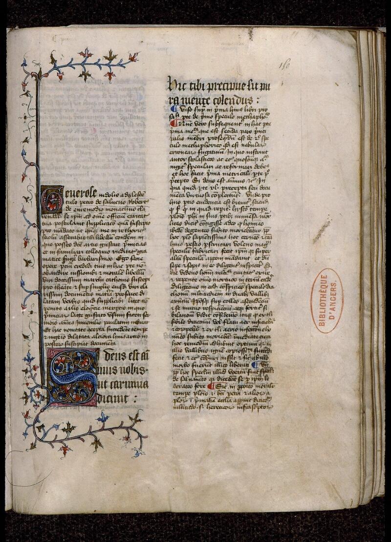 Angers, Bibl. mun., ms. 0420, f. 150 - vue 1