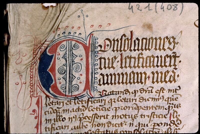 Angers, Bibl. mun., ms. 0421, f. 001 - vue 3
