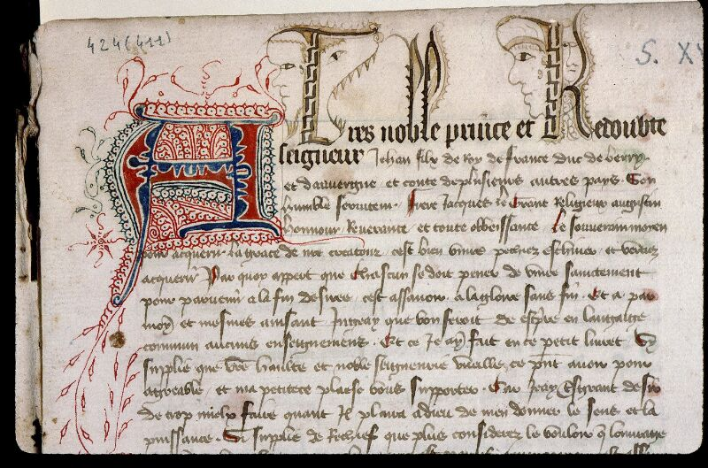Angers, Bibl. mun., ms. 0424, f. 001 - vue 3