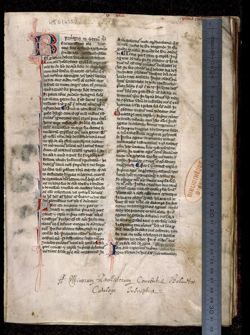 Angers, Bibl. mun., ms. 0450, f. 002 - vue 1