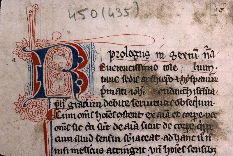 Angers, Bibl. mun., ms. 0450, f. 002 - vue 3