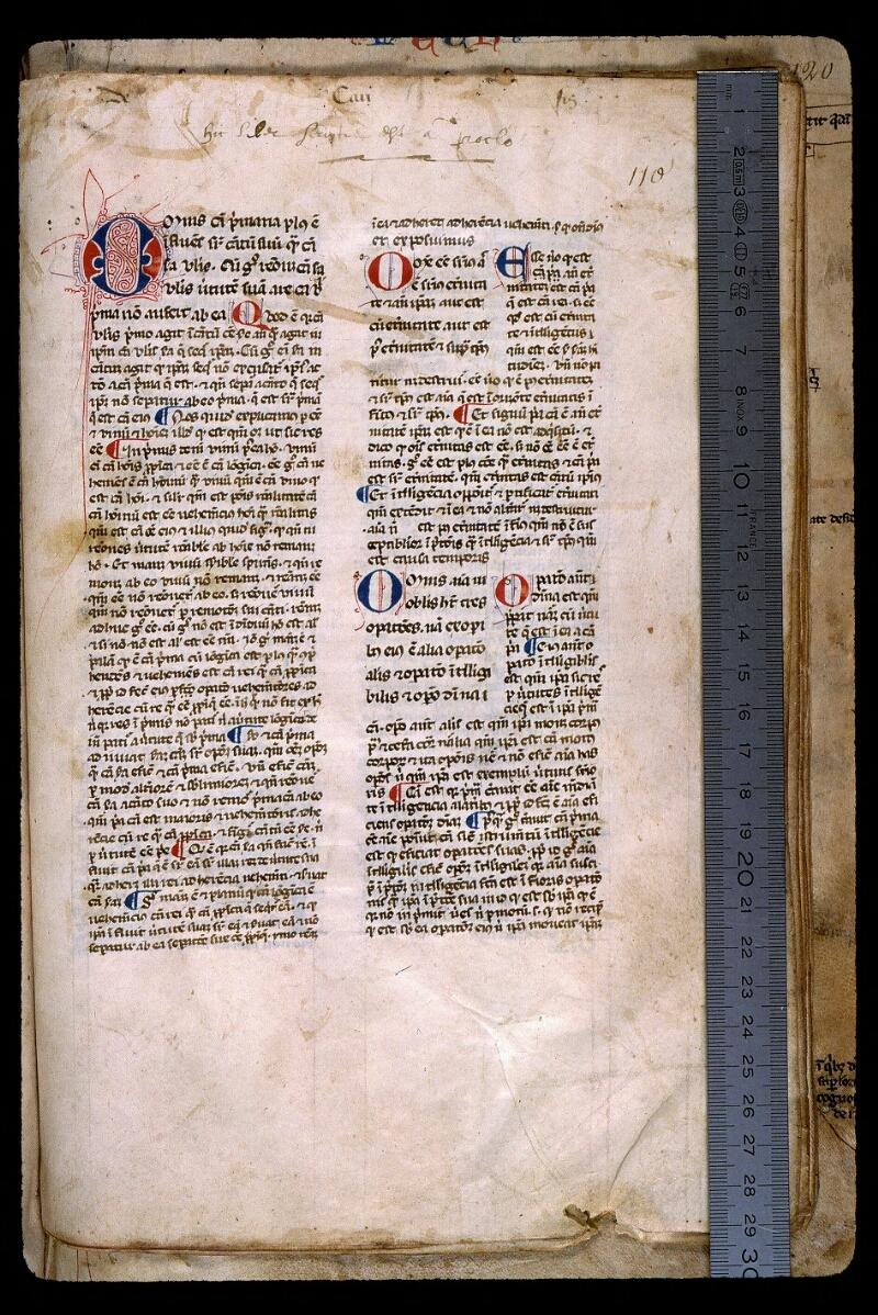 Angers, Bibl. mun., ms. 0450, f. 110 - vue 1