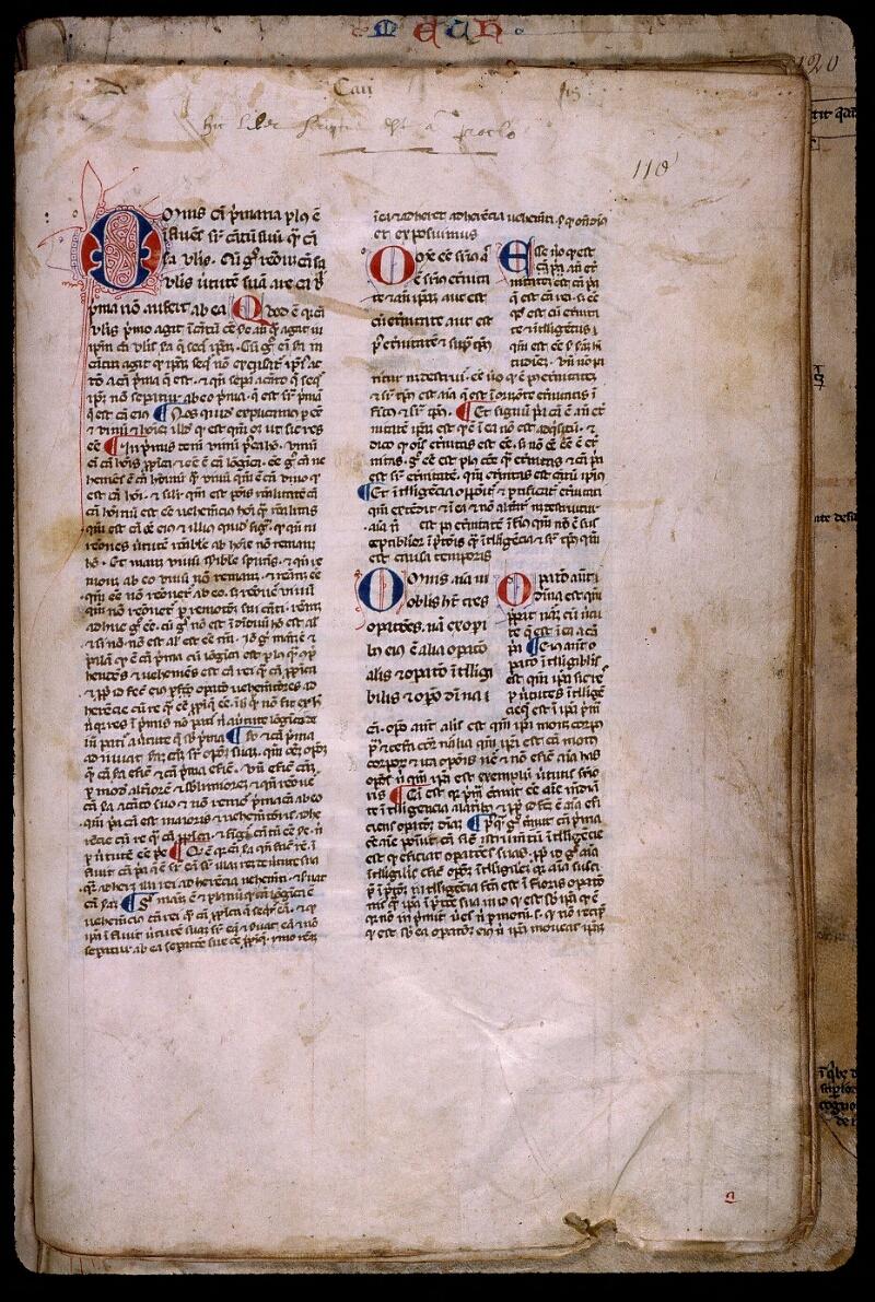 Angers, Bibl. mun., ms. 0450, f. 110 - vue 2