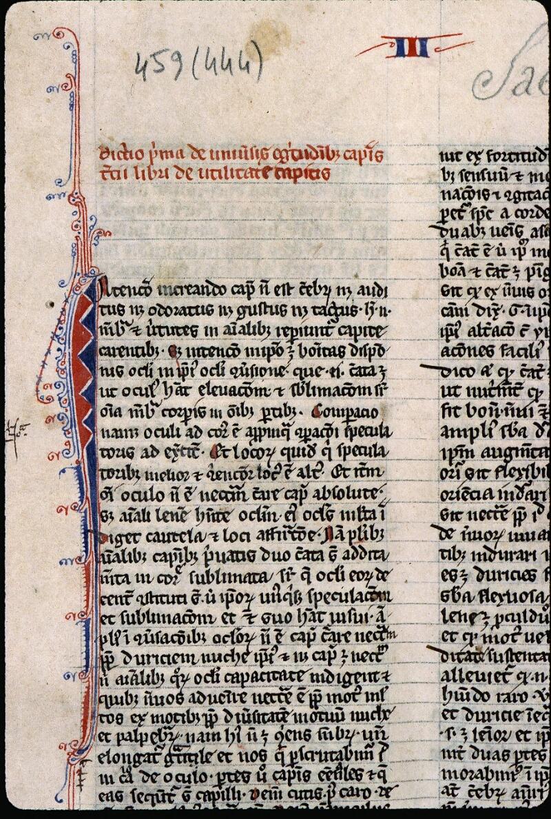 Angers, Bibl. mun., ms. 0459, f. 001 - vue 3