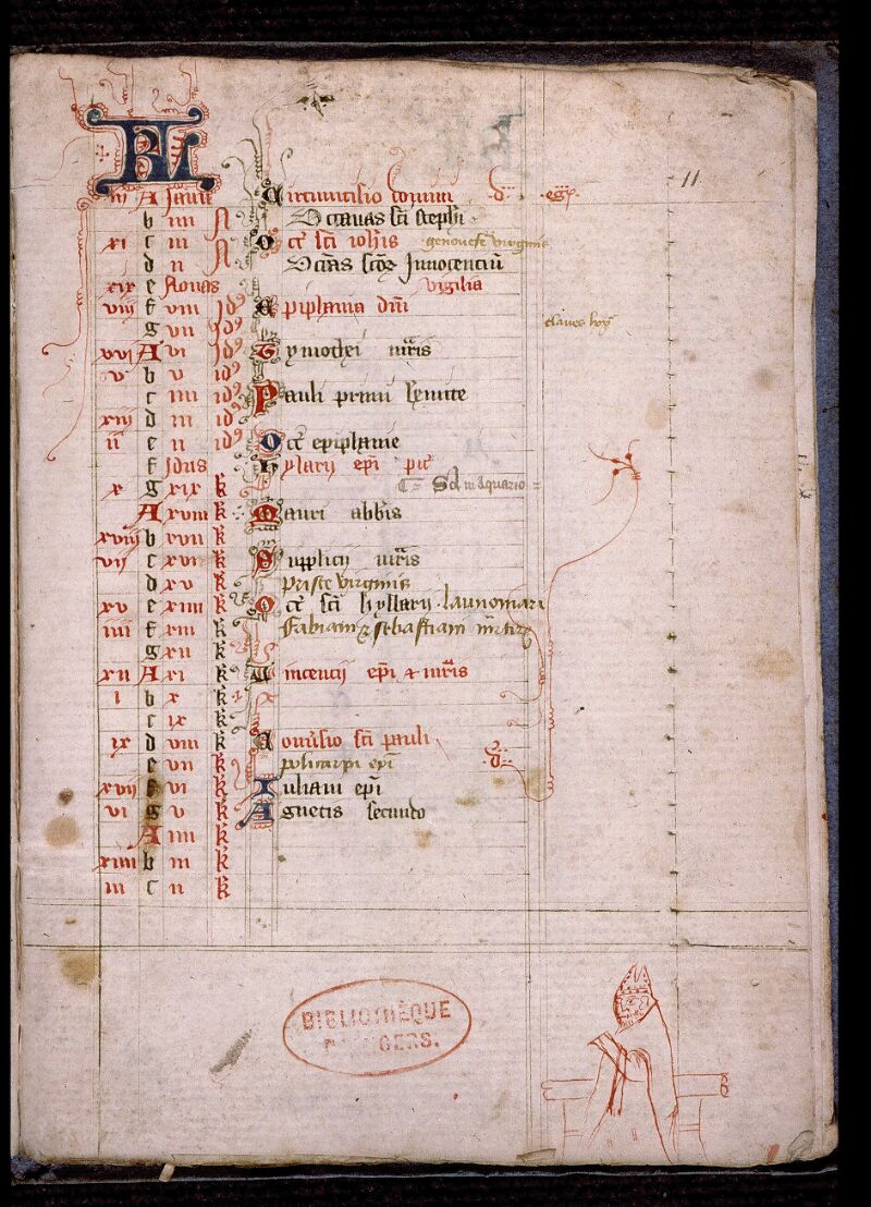 Angers, Bibl. mun., ms. 0478, p. 011 - vue 2