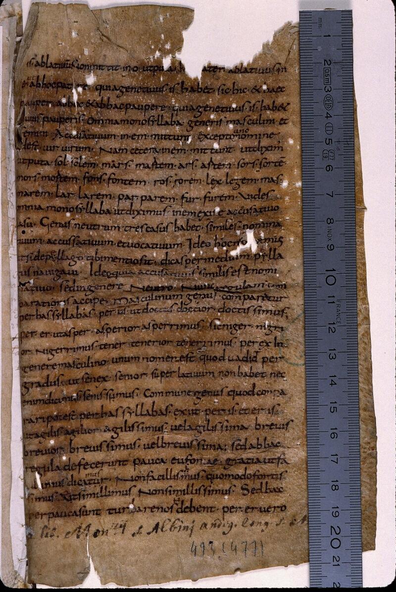 Angers, Bibl. mun., ms. 0493, f. 001 - vue 1