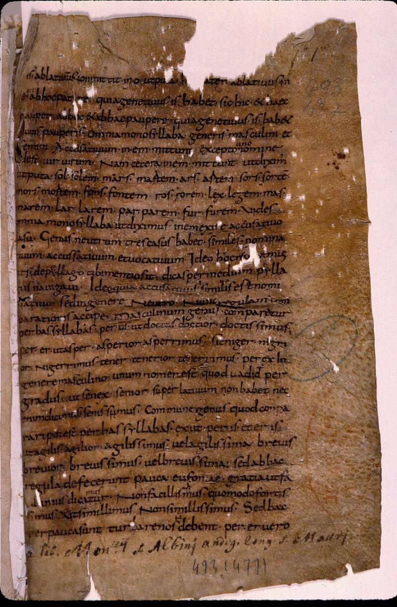 Angers, Bibl. mun., ms. 0493, f. 001 - vue 2