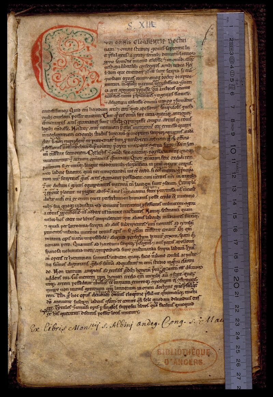 Angers, Bibl. mun., ms. 0495, f. 001 - vue 1
