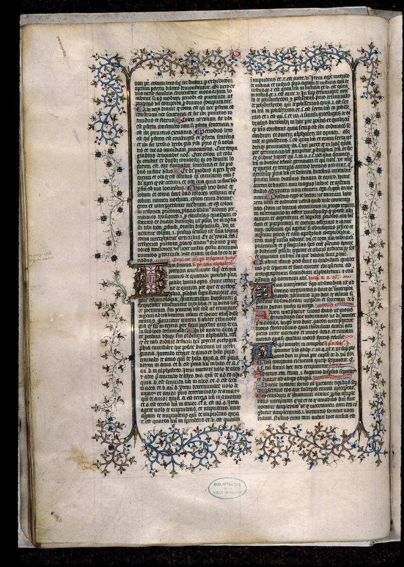 Angers, Bibl. mun., ms. 0496, f. 068v - vue 1
