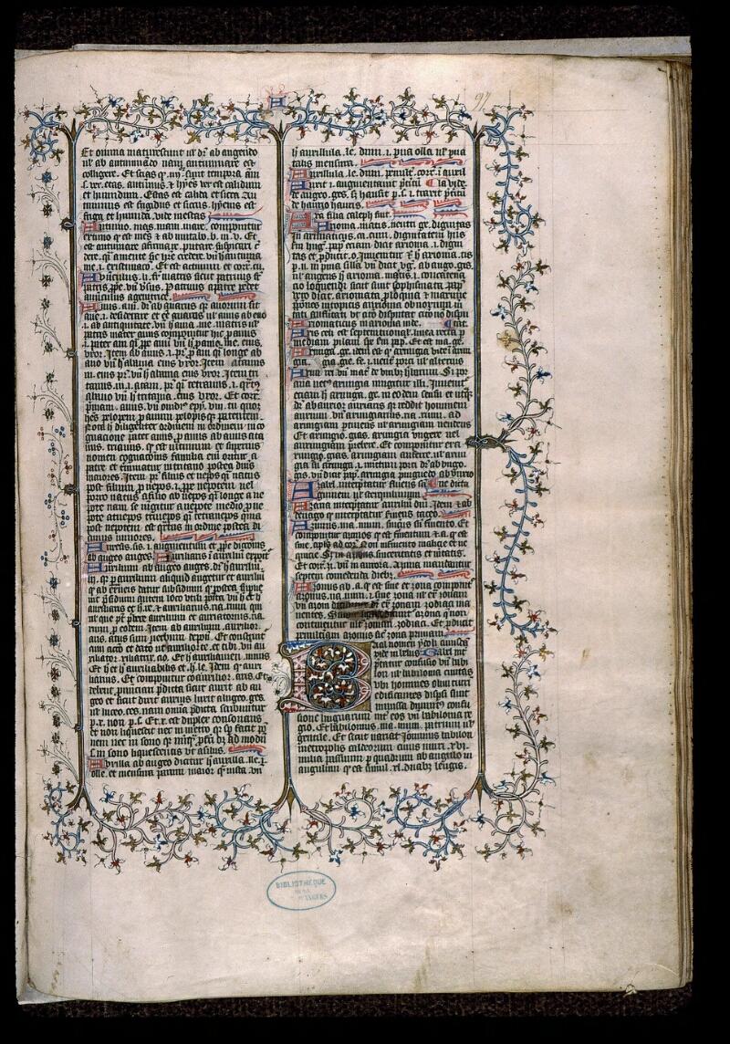 Angers, Bibl. mun., ms. 0496, f. 097 - vue 1