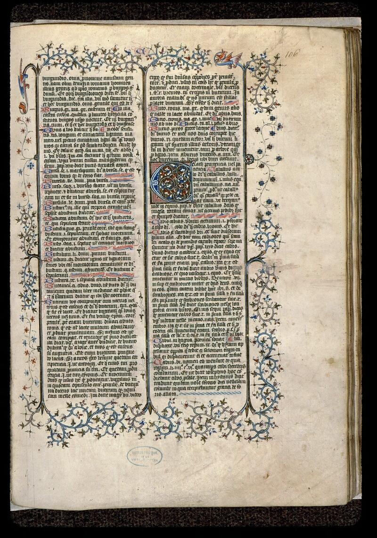 Angers, Bibl. mun., ms. 0496, f. 106 - vue 1