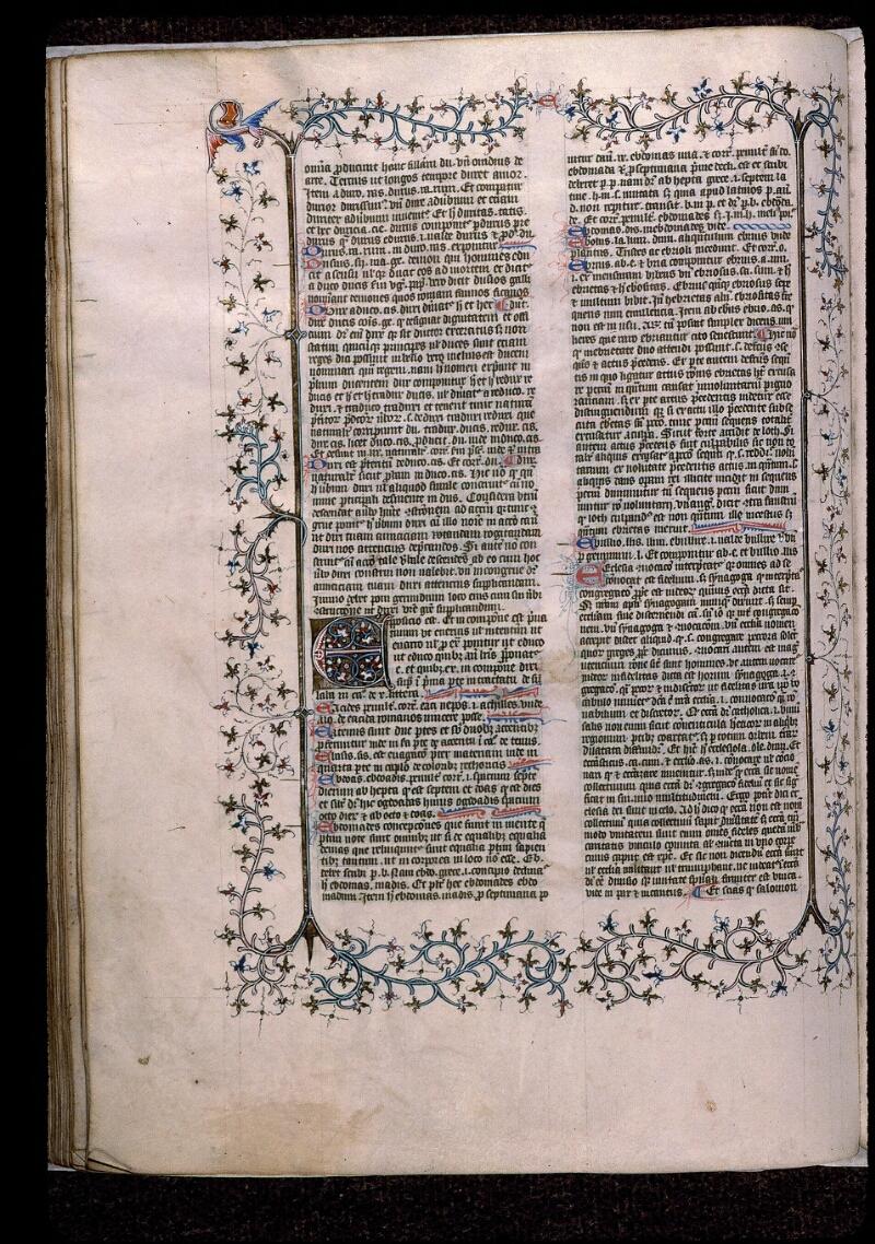 Angers, Bibl. mun., ms. 0496, f. 161v - vue 1