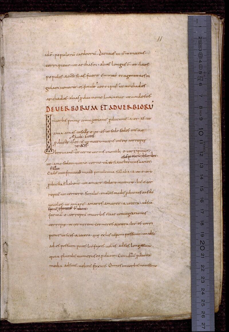 Angers, Bibl. mun., ms. 0522, f. 011 - vue 1