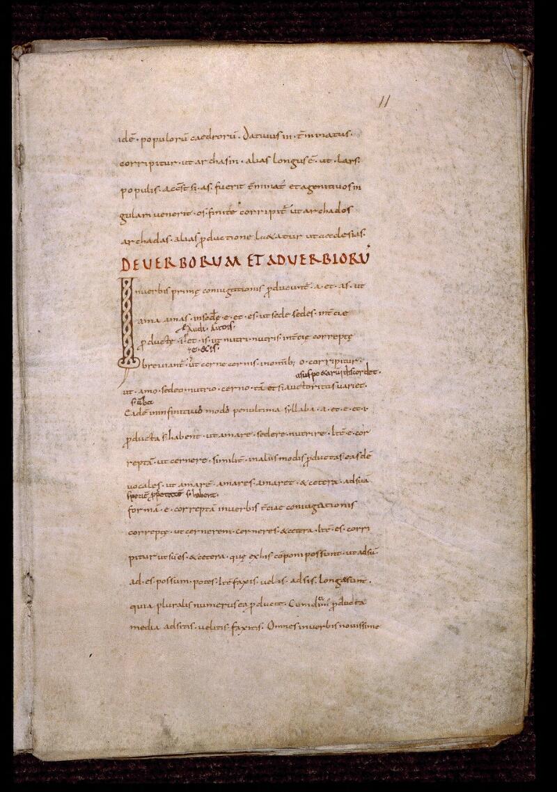 Angers, Bibl. mun., ms. 0522, f. 011 - vue 2
