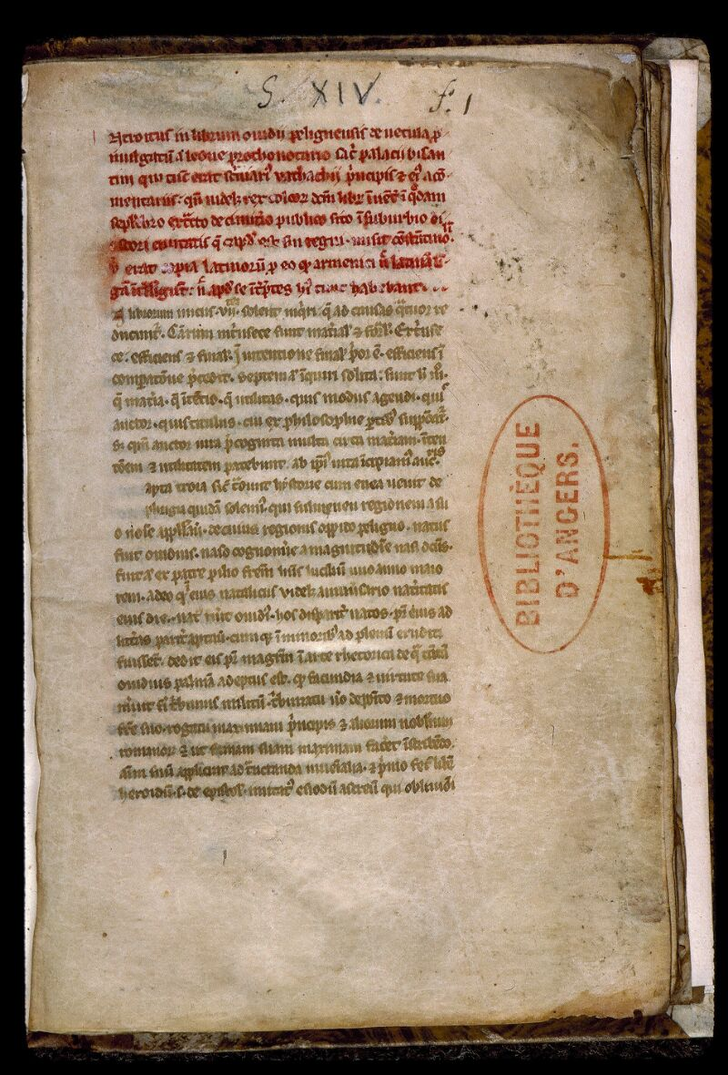 Angers, Bibl. mun., ms. 0541, f. 001 - vue 2