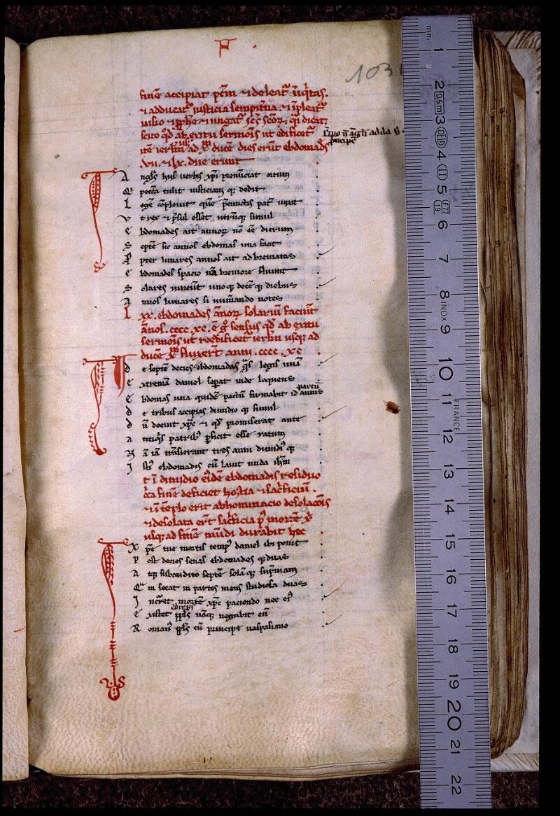 Angers, Bibl. mun., ms. 0543, f. 103 bis - vue 1
