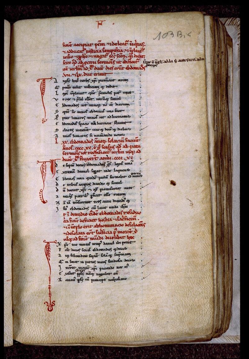 Angers, Bibl. mun., ms. 0543, f. 103 bis - vue 2