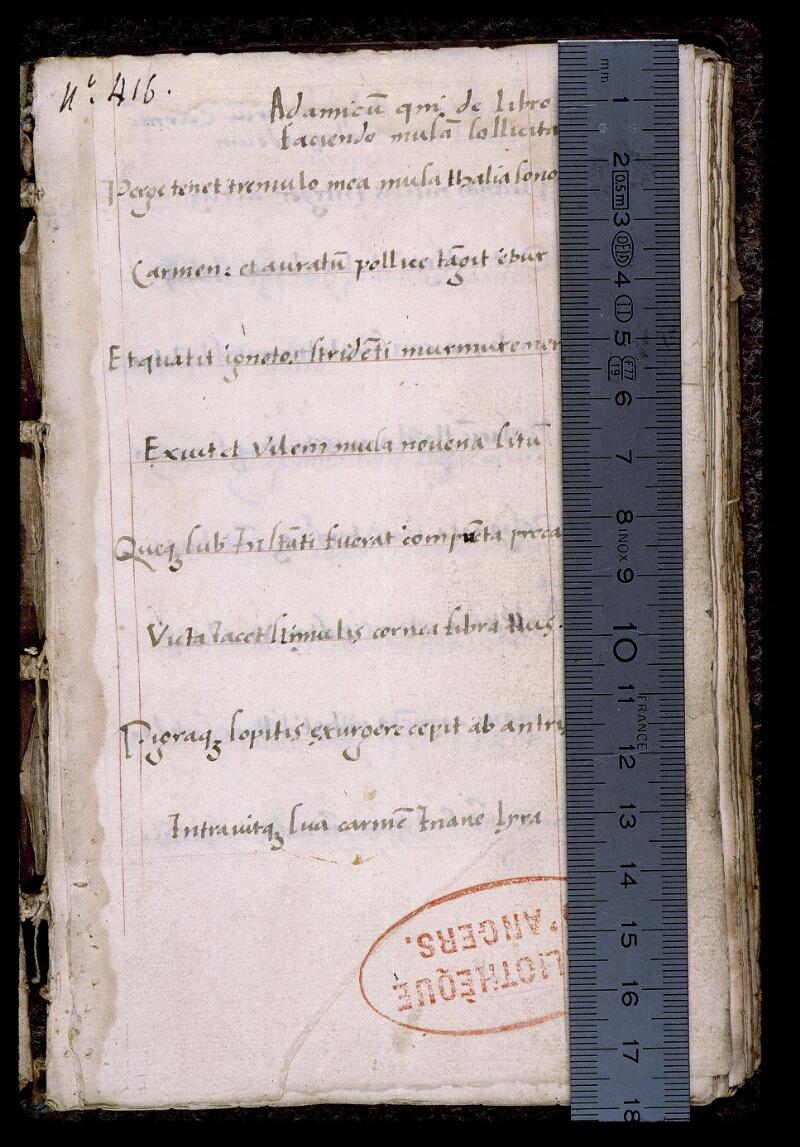 Angers, Bibl. mun., ms. 0547, f. 001 - vue 1