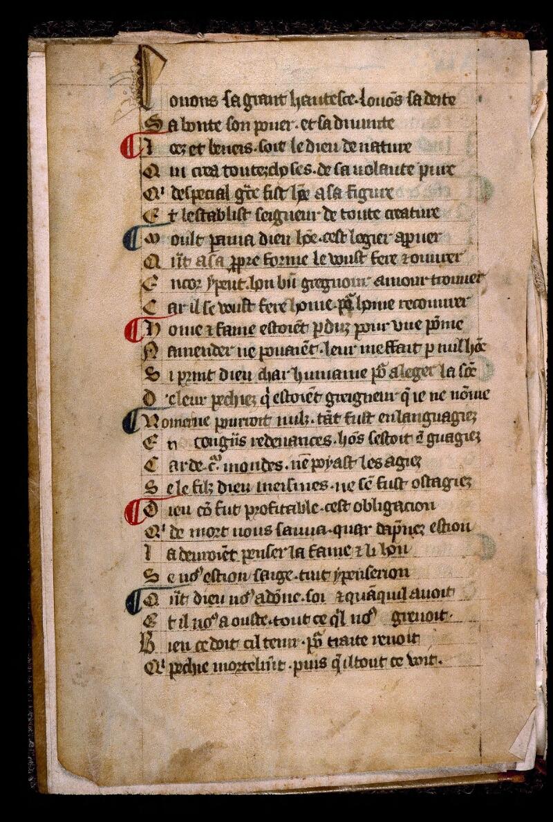 Angers, Bibl. mun., ms. 0548, f. 003v - vue 2