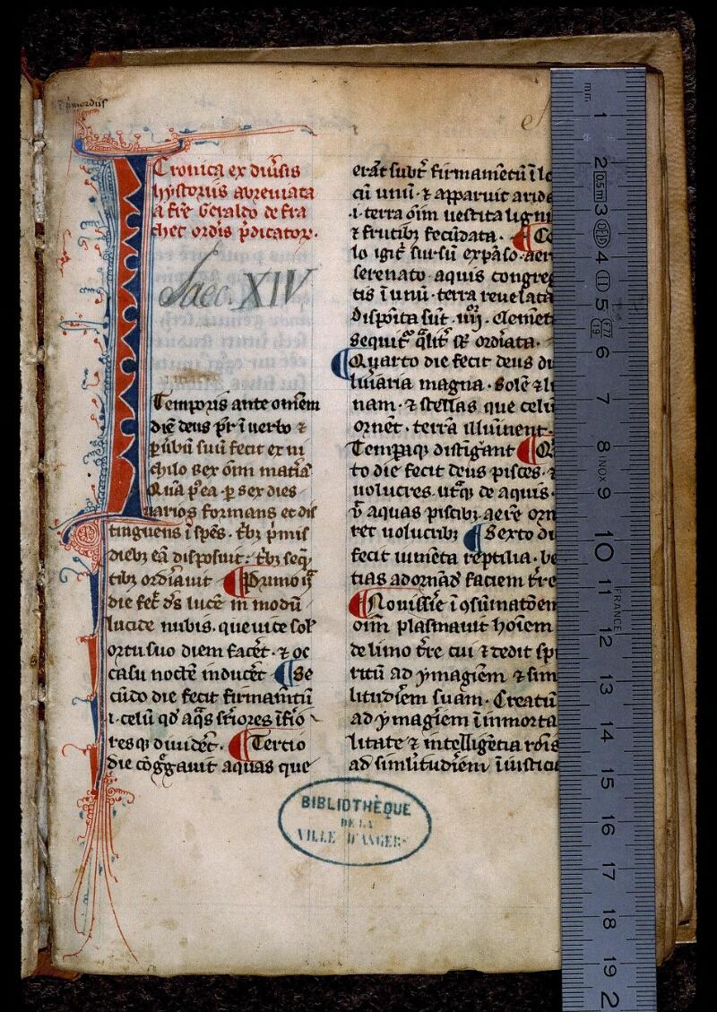 Angers, Bibl. mun., ms. 0668, f. 001 - vue 1