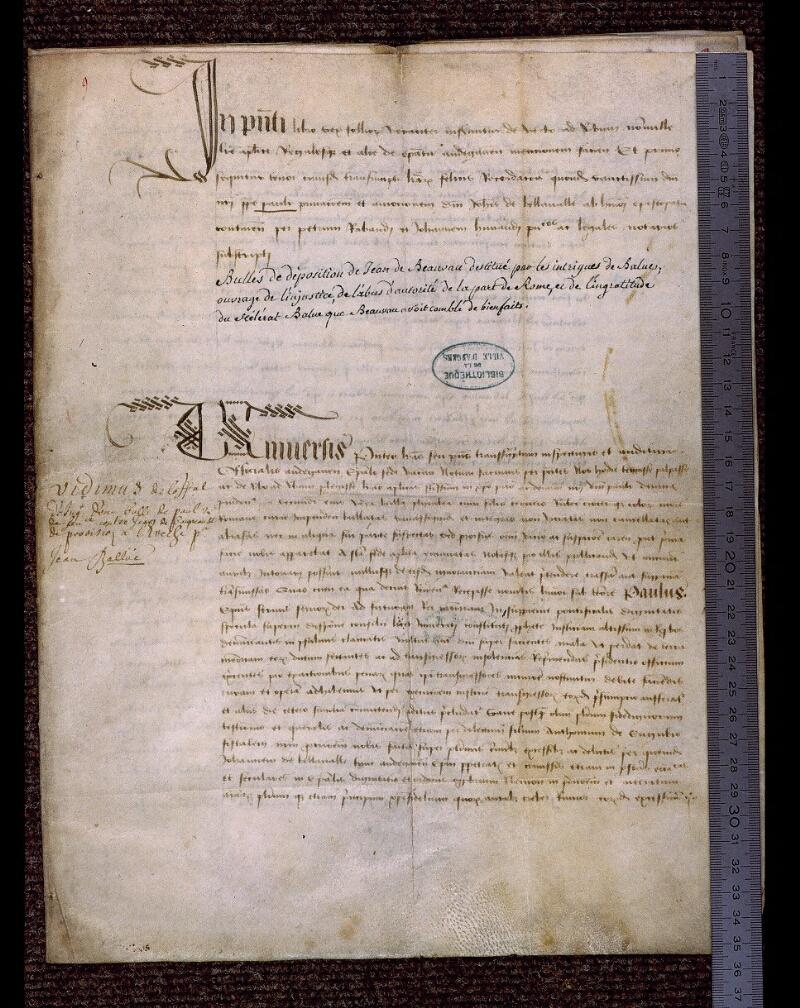 Angers, Bibl. mun., ms. 0705, n° 9, f. 001 - vue 1