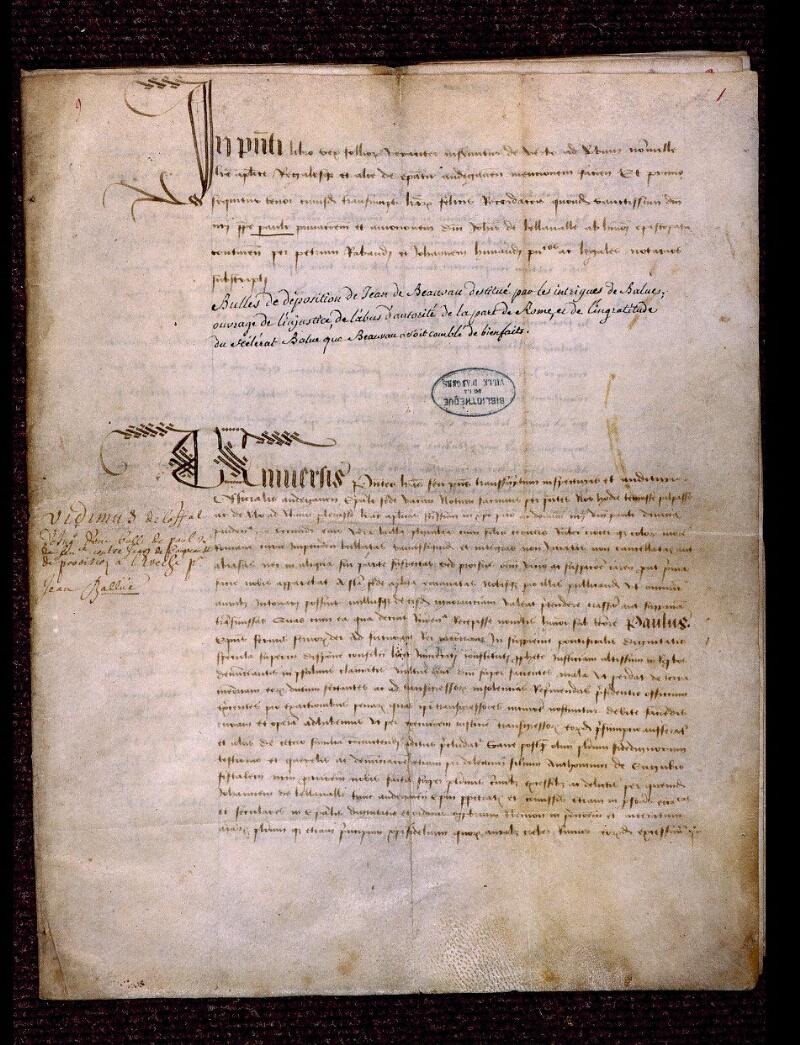 Angers, Bibl. mun., ms. 0705, n° 9, f. 001 - vue 2