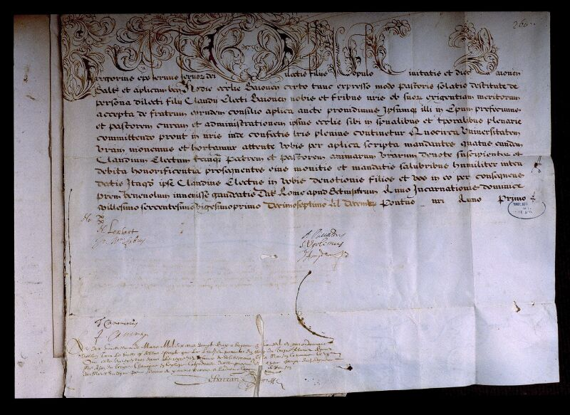 Angers, Bibl. mun., ms. 0707, f. 260 - vue 2