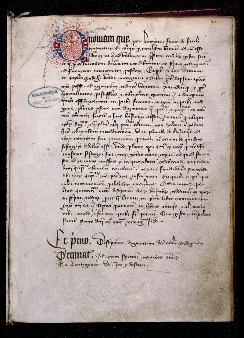 Angers, Bibl. mun., ms. 0714, f. 005 - vue 2