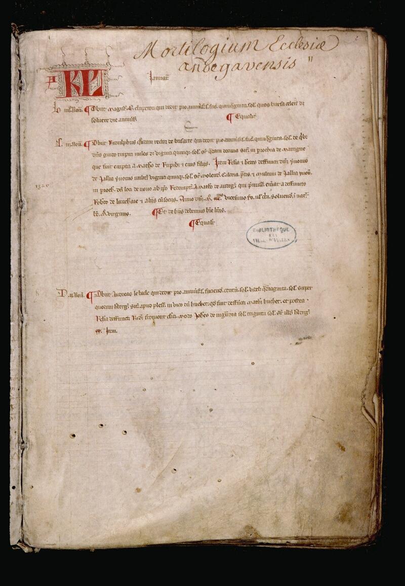 Angers, Bibl. mun., ms. 0736, f. 002 - vue 2