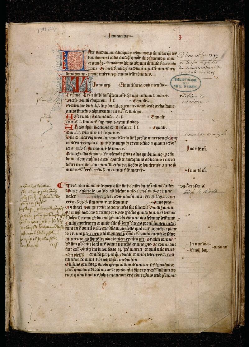 Angers, Bibl. mun., ms. 0737, f. 001 - vue 2